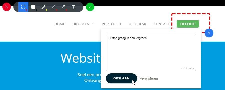 Hoe geef ik feedback over het ontwerp van mijn website?