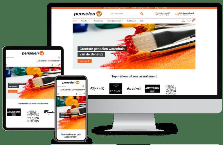 Nieuwe webshop Penselen.nl