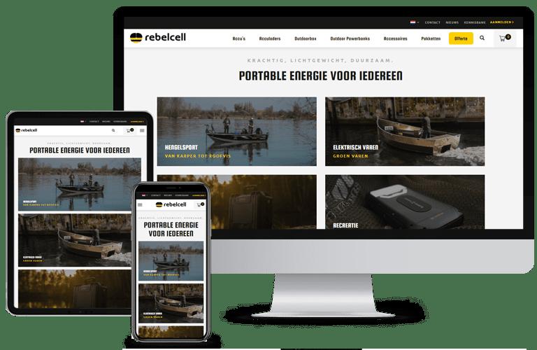 Nieuwe website Rebelcell