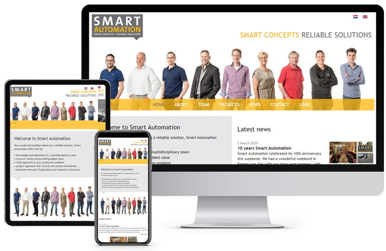 Vernieuwde website Smart Automation